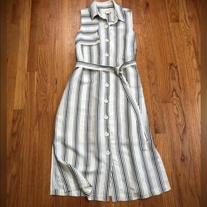 Anthropologie Maeve Esther Striped Shirtdress